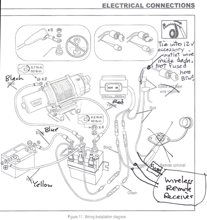 WinchWiringDiagram1 superwinch 12 volt dc powered electric atv winch 2500 lb dayton 115v winch wiring diagram at fashall.co